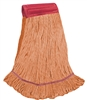 <!ii>Wholesale Wet Mops - <strong>PREMIUM BLEND | LOOPED END | WIDE BAND | LARGE | ORANGE | 12/Case</strong>