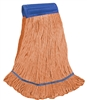 <!iii>Wholesale Wet Mops - <strong>PREMIUM BLEND | LOOPED END | WIDE BAND | X-LARGE | ORANGE | 12/Case</strong>