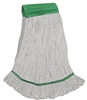 <!k>Wholesale Wet Mops - <strong>PREMIUM BLEND | LOOPED END | WIDE BAND | MEDIUM | WHITE | 12/Case</strong>