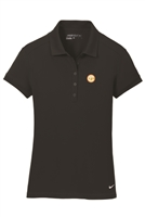 Womens Nike Solid Icon Pique Modern Fit Polo - Black