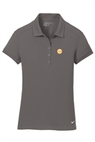 Womens Nike Solid Icon Pique Modern Fit Polo - Dark Grey