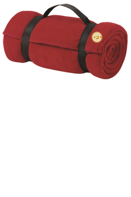 Fleece Blanket with Strap - Red