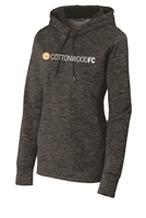 Womens Electric Heather Fleece Hooded Pullover - Grey