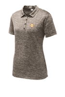 Womens Electric Heather Polo - Black
