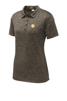 Womens Electric Heather Polo - Grey