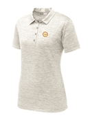 Womens Electric Heather Polo - Silver