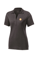 Womens Heather Contender Polo - Graphite