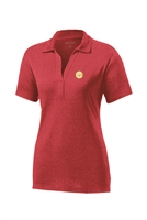 Womens Heather Contender Polo - Red