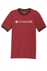 Mens Core Cotton Ringer Tee - Red/Black