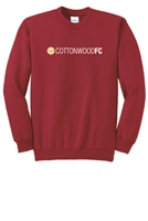 Youth Essential Fleece Crewneck Sweatshirt - Red