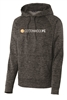 Mens Electric Heather Fleece Hooded Pullover