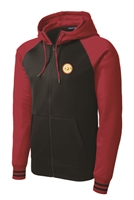 Mens Varsity Fleece Full-Zip Hooded Jacket