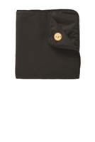 Fleece & Poly Travel Blanket - Black