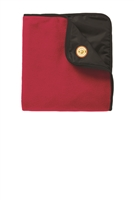 Fleece & Poly Travel Blanket - Red