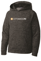 Youth Electric Heather Fleece Hooded Pullover - Grey