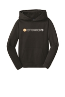Youth  Sport-Wick Fleece Hooded Pullover - Black