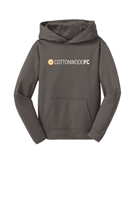 Youth  Sport-Wick Fleece Hooded Pullover - Grey