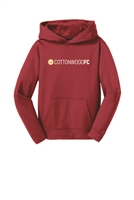 Youth  Sport-Wick Fleece Hooded Pullover - Red