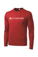 Youth Long Sleeve 100% Poly Tee - Red