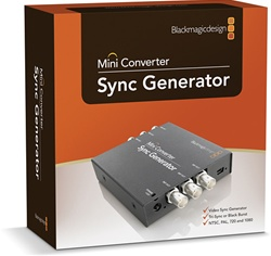 The Blackmagic Design Mini Converter - Sync Generator (CONVMSYNC) product_shot