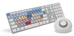 Logickeyboard Pro Apple Ultra Thin Alu Keyboard for Avid Media Composer, LKBU-MCOM-M89-US 3qtr