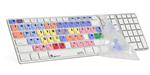 "Logickeyboard Apple Ultra Thin Keyboard LogicSkinâ""¢ for Avid Media Composer, LS-MCOM4-M89-US 3qtr"