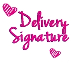 Delivery Signature