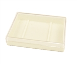Empty 50 gram Rainbow Container--WHITE