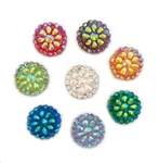 "Round Gems 1/2"" Mixed Colors 20 pcs."