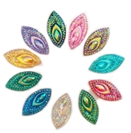 "Horse Eye Gems, 7/8"", Mixed Colors, 40 pcs."