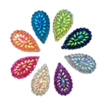 "Raised Teardrop Gems, 1.2"", Mixed Colors, 10 pcs."