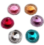 "Round Gems, .6"", Mixed Colors, 20 pcs."