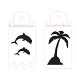 Boost Stencil Set: Dolphins and Palm Trees