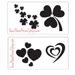 Boost Stencil Set: Hearts and Shamrocks
