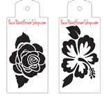 Boost Stencil Set Rose & Hibiscus
