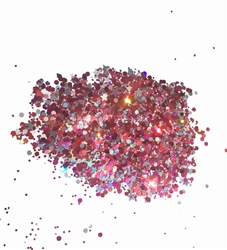 Chunky Glitter Rose Mix