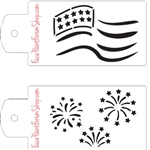 Boost Stencil Set Patriotic