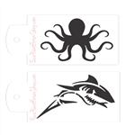 Boost Stencil Set: Shark/Octopus