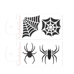Boost Stencil Set Spiders and Webs