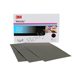 3M Wet or dry Abrasive Sheet, 02021, 5-1/2 in x 9 in, 1000