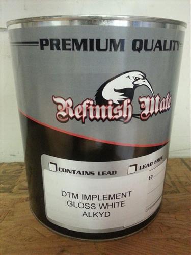 Refinish Mate DTM Implement Gloss White GALLON - Automotive Grade Paint