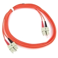 SC-SC Fiber Optic Cable - Duplex MM PVC 1-Meter (3.28')