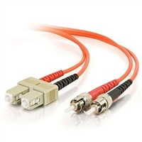 Fiber Optic Cable, ST to SC Duplex Multimode PVC - 2 Meter (6.56')