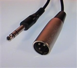 "Calrad 10-149-10 Male XLR to 1/4"" Stereo Plug 10' Long"
