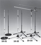 Calrad 10-31BK Black Finish Microphone Stand