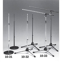 Calrad 10-31-BK Black Finish Microphone Stand