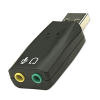 USB Adapter, Stereo Audio Output and Microphone Input Via USB - Calrad Electronics 10-39