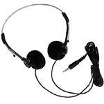 "Calrad 15-145A-RT Mini Stereo Headphones (right angle plug/includes 3.5mm to 1/4"" adapter 35-550/includes extra ear pads)"