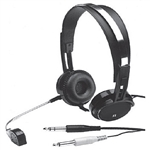 Calrad 15-144 Professional Stereo Headphones w/ Boom Microphone