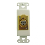 Calrad 28-119G XLR Female Gold Plated Insert